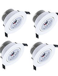 Недорогие -ZDM 4шт 3x2W 450-550 лм 3 светодиодные бусины с затемнением светодиодные светильники теплый белый холодный белый натуральный белый шкаф потолок витрина / ac220v ac12v