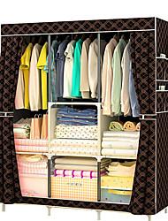 billige -non-woven multifunktions garderobe skabsmøbler stof stor garderobe bærbar folde klud opbevaringsskab locker