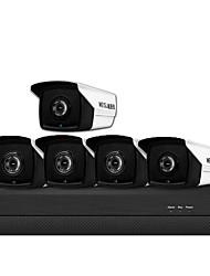 Недорогие -3 миллиона h.265 poe 5-позиционный комплект камеры видеонаблюдения бытовое оборудование poe сеть аудио высокой четкости комплект камеры ночного видения