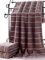 Недорогие -Высшее качество Банное полотенце, Полоски Чистый хлопок 1 pcs