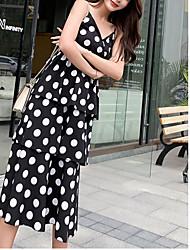 abordables -Femme Midi Courte Robe Blanc Noir M L XL Sans Manches