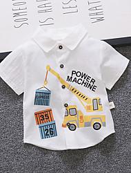 levne -Dítě Chlapecké Základní / Šik ven Geometrický / Tisk Poloviční rukáv / Krátký rukáv Bavlna Košile Bílá