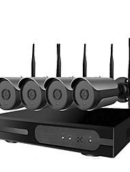 Недорогие -2 миллиона 4-полосная 1080p ночного видения высокой четкости беспроводная камера видеонаблюдения WiFi установить умный дом магазин мобильный телефон удаленного открытый водонепроницаемый