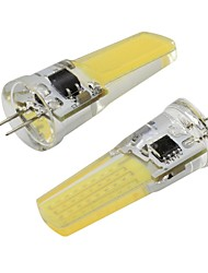 preiswerte -2 stücke 3 watt g4 bi-pin led lichter cob 450lm dimmbare led lampe weiß warmweiß für kronleuchter pendelleuchte 110 v 220 v