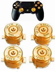 Недорогие -ручки джойстика игрового контроллера 4 универсальных металлических пулевых кнопки для крышки рычажка большого пальца ps4 для двойного щелчка по модулю аналогового джойстика контроллера xbox