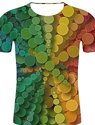 voordelige -Heren Rock / overdreven Print T-shirt 3D / Regenboog / Grafisch Regenboog XXL