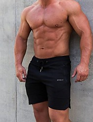 abordables -Hombre Deportivo Shorts Pantalones - Un Color Negro