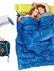Недорогие -Naturehike Спальный мешок на открытом воздухе Двойная ширина 5~15 °C Двуспальный комплект (Ш 200 x Д 200 см) T / C хлопок С защитой от ветра Сохраняет тепло Влагонепроницаемый Ультралегкий (UL