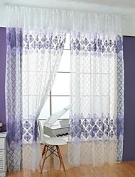 Недорогие -Современный 1 панель Прозрачный Спальня   Curtains