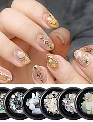 저렴한 -1 pcs 최고의 품질 코우리 기하학 모조 다이아몬드 제품 손톱 패션 창의적 네일 아트 매니큐어 페디큐어 일상 / 제전 세련 / 컬러풀