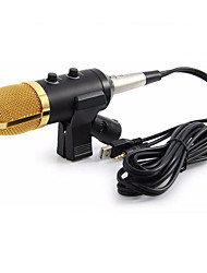 Недорогие -проводной микрофон USB конденсатор звукозаписывающий микрофон с подставкой для чата пение караоке ноутбук