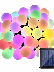 preiswerte -15m Leuchtgirlanden 100 LEDs 1Set Montagehalterung Warmes Weiß / RGB / Weiß Wasserfest / Solar / Kreativ Solarbetrieben 1 set