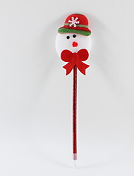 Χαμηλού Κόστους -χριστουγεννιάτικο πλαστικό / μη υφασμένο ύφασμα υπέροχο χιονάνθρωπο στυλό μαρκαδόρου 0,5 mm μπλε μολύβι μολύβι για το γραφείο&amp σχολικών προμηθειών