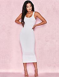 Недорогие -Полиэфир Клубное платье Супер секси Однотонный Особые случаи Комбинезоны для ночного клуба
