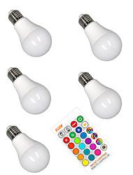 halpa -5pcs 5 W LED-älyvalot 350 lm E26 / E27 A60(A19) 3 LED-helmet SMD 5050 Smart Himmennettävissä Party RGBW 85-265 V