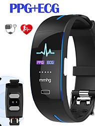 Недорогие -JSBP P3PRO Мужчина женщина Умный браслет Android iOS Bluetooth Водонепроницаемый Сенсорный экран Пульсомер Измерение кровяного давления Спорт ЭКГ + PPG