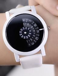 Недорогие -Жен. Кварцевые На каждый день Мода Черный Белый ТПУ Китайский Кварцевый Белый Черный Черный+Белый Новый дизайн Повседневные часы 1 ед. Аналоговый Один год Срок службы батареи