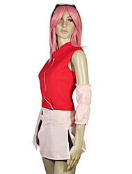 Недорогие -Вдохновлен Наруто Sakura Аниме Косплэй костюмы Японский Косплей Костюмы Неприменимо Костюм Назначение Жен.
