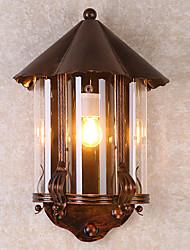 Недорогие -JLYLITE Водонепроницаемый Простой Внешние настенные светильники На открытом воздухе / Гараж Металл настенный светильник IP44 110-120Вольт / 220-240Вольт