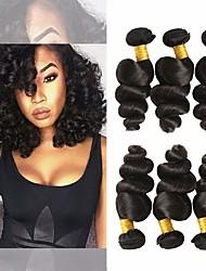 Недорогие -6 Связок Бразильские волосы Свободные волны 100% Remy Hair Weave Bundles Человека ткет Волосы Удлинитель Пучок волос 8-28 дюймовый Естественный цвет Ткет человеческих волос