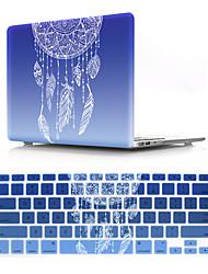 Недорогие -сша версия цветочный узор macbook пластиковый жесткий чехол с клавиатурой защитный чехол совместим с новым / старым macbook air pro retina 11/12/13/15 дюймов