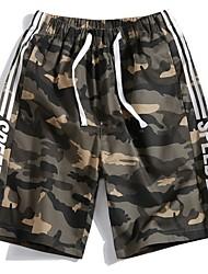abordables -Hombre Básico Shorts Pantalones - Estampado Negro