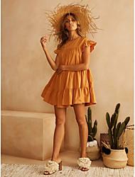 preiswerte -Damen Grundlegend Etuikleid Kleid - Rüsche, Solide Übers Knie