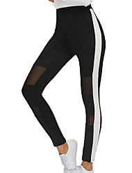 levne -Dámské Základní Kalhoty chinos Kalhoty - Jednobarevné Černá