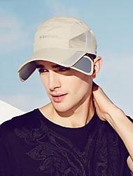 Недорогие -Шляпа для туризма и прогулок Бейсболка Кепка 1 ед. С защитой от ветра Защита от солнечных лучей Устойчивость к УФ Дышащий Сплошной цвет Чинлон Лето для Муж. / Быстровысыхающий