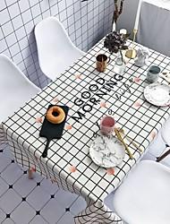 お買い得  -コンテンポラリー カジュアル コットン ポリエステル繊維 方形 テーブルクロス パターン柄 休暇 プリント エコ 耐水 テーブルデコレーション