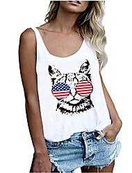 povoljno -Majica s rukavima Žene Dnevni Nosite Životinja Plava XL