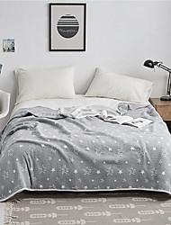billige -Komfortabel - 1stk dyne / 1stk Sengetæppe Kryss-sesonger / Vår / Sommer Bomull Stripet / Fargeblokk / Enkel