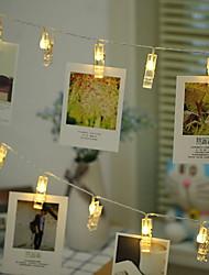 Недорогие -1,5 м держатели для фото клипов гирлянды 10 светодиодов теплая белая комната декоративные батарейки 1 комплект