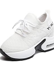 ราคาถูก -สำหรับผู้หญิง ตารางไขว้ ฤดูร้อนฤดูใบไม้ผลิ ไม่เป็นทางการ รองเท้ากีฬา สำหรับวิ่ง ส้นแบน ปลายกลม ขาว / สีดำ / แดง