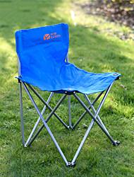 ieftine -Camping Masa de pliere cu scaun În aer liber Deformare Include Suport Îmbrăcăminte Oxford cu carabine și curele de copac pentru 1 persoană Pescuit Plajă Camping Albastru 50*83*42/82 cm