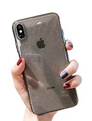 Недорогие -чехол для яблока iphone xr / iphone xs макс блестящий блеск / прозрачная задняя крышка сплошной мягкий мягкий тпу для iphone x xs 8 8plus 7 7plus 6 6plus 6s 6s plus