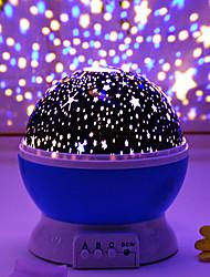 Недорогие -звездный проектор ночник вращающийся светодиодный интеллектуальный проекционный фонарь USB зарядное устройство или 4 * ааа аккумулятор романтический