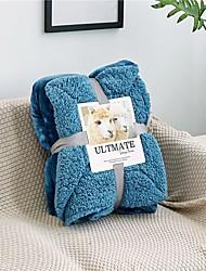 Недорогие -одеяла, однотонная шерстяная ткань / трикотаж, удобные супер мягкие сгущенные одеяла