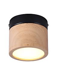 abordables -Ecolight Cercle Anneau / Géométrique / Mini Plafonniers Lumière d'ambiance Bois Métal Bois / Bambou Style mini, Créatif, LED 110-120V / 220-240V Blanc Crème / Blanc