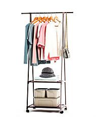 billige -frakke rack nonwovens rustfrit stål enkel montering kan fjernes soveværelse bevæge trekant tøj hænger garderobe møbler
