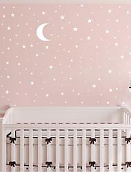Недорогие -1 шт. Луна звезда украшения стены самоклеящаяся бумага декоративные наклейки на стену