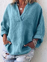 levne -Dámské - Jednobarevné Košile Černá US14