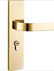 Недорогие -Спальни из цельного дерева дверные замки нордический крытый простой пвд золото немой американский механический дверной замок