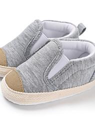 ราคาถูก -เด็กผู้ชาย / เด็กผู้หญิง ผ้าใบ รองเท้าส้นเตี้ยทำมาจากหนังและรองเท้าสวมแบบไม่มีเชือก ทารก (0-9m) / เด็กวัยหัดเดิน (9m-4ys) สำหรับการเดินครั้งแรก สีเทา / สีฟ้า ฤดูใบไม้ผลิ / ตก