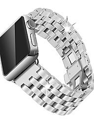 baratos -Pulseiras de Relógio para Apple Watch Series 4/3/2/1 Apple borboleta Buckle Aço Inoxidável Tira de Pulso