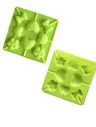 halpa -1kpl silikageeli Ihana Luova Creative Kitchen Gadget For Keittoastiat Uutuusvälineet keittiöön Neliö kakku Muotit jälkiruoka Decorators Bakeware-työkalut