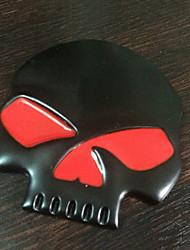 Недорогие -Черный / Серебряный Автомобильные наклейки Юмор Автомобильные стикеры 3D-наклейки