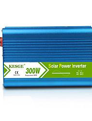 Недорогие -Kesge 300 Вт чисто синусоида инвертор DC12 / 24 В-AC220 В / 110 В высокого качества автомобиля / дома инвертор