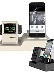 Недорогие -подставка для мобильного телефона часы гарнитура зарядка кронштейн без линии apple силикагель стол / кровать чистое размещение кронштейн
