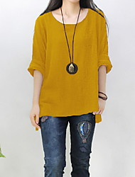 levne -Dámské - Jednobarevné Tričko Fialová US10